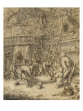 La saignée du porc Giclée-Druck von Adrien Van Ostade