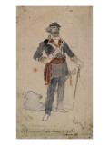 Chef communard à la colonne de juillet 1871 Giclée-Druck von Daniel Urrabieta Vierge