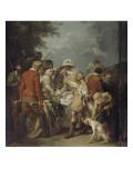 Henri IV rencontrant Sully blessé à la suite de la bataille d'Ivry Giclée-Druck von Francois Andre Vincent