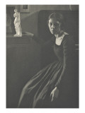 Camera Work:Lady in Black with Statuette Giclee Print by Clarence White