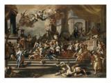 Héliodore chassé du temple Giclée-tryk af Francesco Solimena