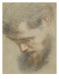 Head of a Bearded Man in Profile, Bent, Looking Down Giclee Print by Federico Barocci