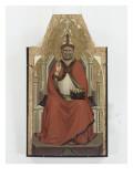 Saint Evêque (Saint Pierre ?) Giclée-tryk af Bernardo Daddi