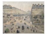 Avenue de l'Opéra, soleil, matinée d'hiver Giclee Print by Camille Pissarro