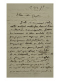 Holograph Letter to Theophile Gautier, July 22, 1855 Giclee Print by Eugene Delacroix