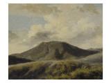 A Rocca di Papa : le Monte Cavo sous un ciel nuageux Giclée-Druck von Pierre Henri de Valenciennes