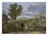 Autumn or the Grapes Brought from the Promised Land Giclee Print by Nicolas Poussin