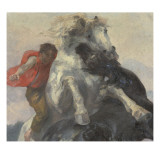 Chevaux affront&#233;s Giclee Print by Alfred Roll