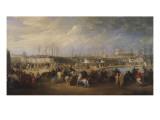 Arrivée de l'ambassade turque conduite par Mehemet Effendi aux jardins Tuileries, 21 mars 1721 Giclee Print by Charles Parrocel