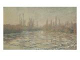 Les glaçons ou Débâcle sur la Seine Giclee Print by Claude Monet