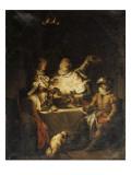 Henri IV à Lieusaint chez le meunier Michau Giclée-Druck von Francois Andre Vincent