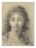 Tête d'une jeune fille Giclée-Druck von Elisabeth Louise Vigée-LeBrun