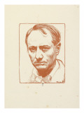 Baudelaire Gicl&#233;e-Druck von Pierre-Eug&#232;ne Vibert