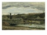 Bac à la Varenne Saint Hilaire Giclee Print by Camille Pissarro