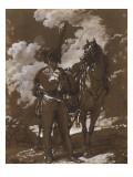 Hussard à côté de sa monture Giclee Print by Antoine Charles Horace Vernet