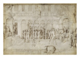 Architecture and Suzanne and the Two Old before Judge Giclee Print by Jacopo Bellini