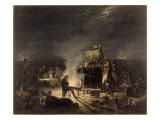 Bivouac de Napoléon Ier sur le champ de bataille de Wagram pendant la nuit du 5 au 6 juillet 1809 Giclee Print by Adolphe Roehn