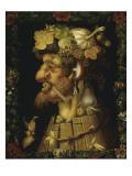 Efterår Giclée-tryk af Giuseppe Arcimboldo