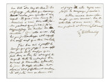 Autograph Letter Signed to Berryer, November 2, 1858 Giclee Print by Eugene Delacroix