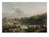 Chasse au daim pour la Saint-Hubert en 1818, dans les bois de Meudon Giclee Print by Antoine Charles Horace Vernet