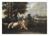 Herminie gardant les troupeaux Giclée-tryk af Pier Francesco Mola