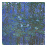 Nymphéas bleus Giclee Print by Claude Monet