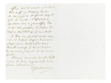 Lettre autographe sign&#233;e &#224; Berryer, 7 Mai 1861 Giclee Print by Eugene Delacroix