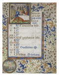 Calendar of a Book of Hours for the Use of Coutances Giclee Print