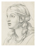 Head of Expression: the Admiration with Astonishment Giclee Print by Charles Le Brun