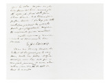 Autograph Letter Signed to Berryer, December 16, 1858 Giclee Print by Eugene Delacroix