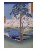 Ando Hiroshige - Les collines d'Inaba Digitálně vytištěná reprodukce