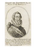 Henry Iv Bust, Three-Quarter Right in an Oval Border Giclee Print