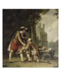 Henri IV et Sully à Fontainebleau. Giclée-Druck von Francois Andre Vincent