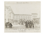 Arrival of Marie-Louise in Compiègne March 27, 1810 Giclee Print by Jean-Charles Develly