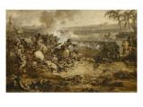 La bataille des Pyramides (21 Juillet 1798) ; esquisse Giclée-Druck von Francois Andre Vincent