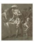 Henri IV rencontrant Sully blessé au retour de la  bataille d'Ivry Giclée-Druck von Francois Andre Vincent