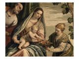 Sainte Famille avec sainte Dorothée Giclée-Druck von Paolo Véronèse
