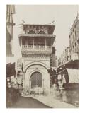 Le Caire, fontaine et école arabe Giclee Print by Henri Béchard