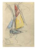 Carnet : Bateau à voile Gicleetryck av Paul Signac