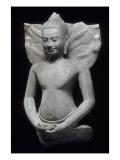 Buddha protégé par le naga Giclee Print