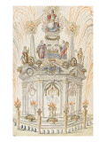 Arc De Triomphe Celebrates the Birth of Prince Dombes Giclee Print by Pierre Paul Sevin