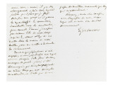 Autograph Letter Signed to Berryer, October 28, 1858 Giclee Print by Eugene Delacroix