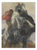 Chevaux affrontés Giclee Print by Alfred Roll