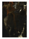 la chasse sauvage Gicleetryck av Franz von Stuck