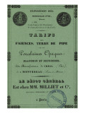 Book Rates the Manufacture De Creil-Montereau 1838 Giclee Print