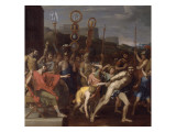 Camille Book Schoolmaster Falerii its Schoolchildren Giclee Print by Nicolas Poussin
