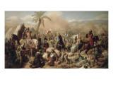 Bataille d'Ascalon, 12 août 1099 Lámina giclée por Jean Victor Schnetz