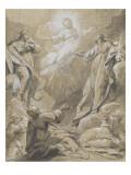 Apparition de Jésus-Christ à divers apôtres et saintes Giclee Print by Jean Restout
