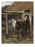 Chevaux 'rie Reproduction procédé giclée par Alfred Roll