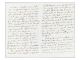 Autograph Letter Signed to Berryer, October 18, 1858 Giclee Print by Eugene Delacroix
